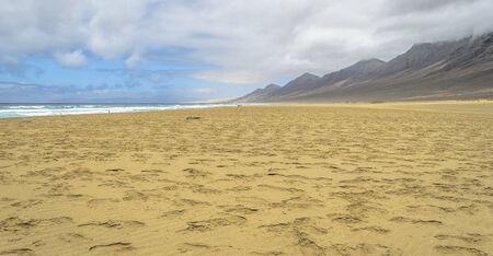 Cofete beach in Fuerteventura, Canary Islands, Spain