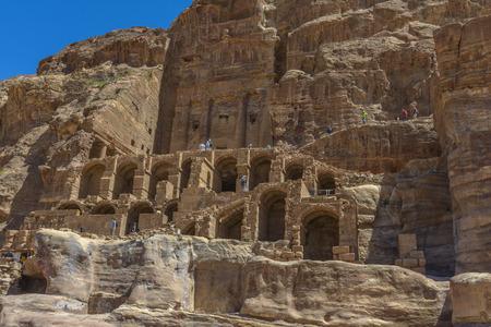 nabataean: Ancient city, capital of the Nabataean kingdom - city of Petra in Jordan Stock Photo