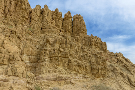 Rocky Mountains near Mount Nebo and the dead sea in Jordan.