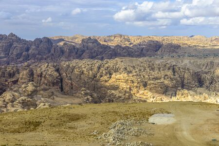 Mountains panorama near Petra in Jordan. 写真素材