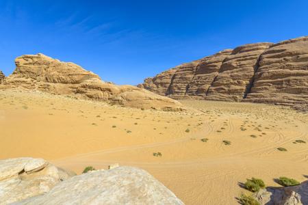 Bergen van Wadi Rum woestijn, Jordanië Stockfoto - 35597452