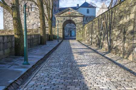 Entrance to Bergenhus fortress in Bergen, Norway