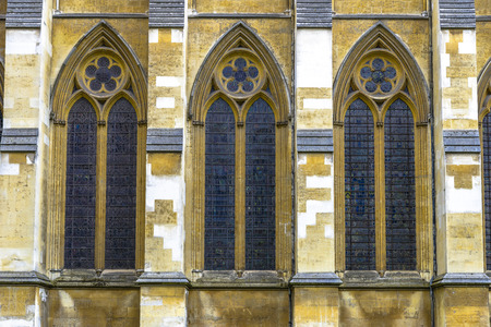 Architectonische details van Westminster Abbey in Londen, UK Stockfoto - 44131100