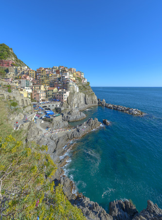Manarola, Cinque Terre (Italian Riviera, Liguria) at day Stockfoto