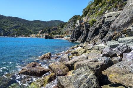 Monterosso al Mare at day, a coastal village and resort in Cinque Terre, Italy Redactioneel