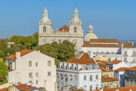 Monastery of S. Vicente de Fora in Lisbon, Portugal Stockfoto