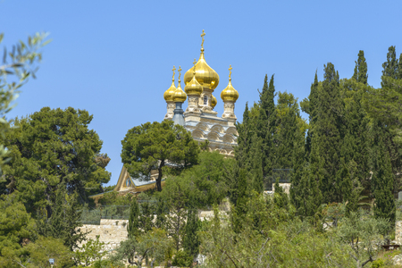 Russian Orthodox Church of Mary Magdalene at the Mount of Olives in Jerusalem, Israel