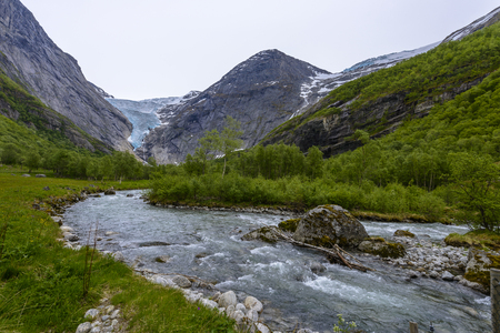Briksdal Glacier in national park- a different perspective