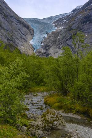 Briksdal glacier in Norway-  beautiful glacier Stockfoto - 103787909