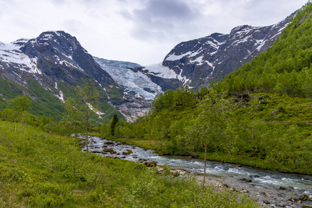 Briksdal glacier in Norway- amazing nature Stockfoto