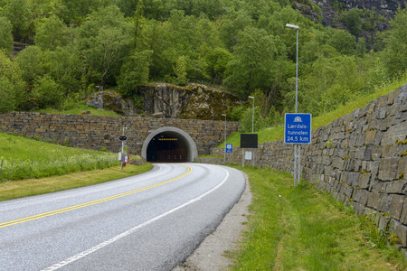 Laerdal Tunnel in Norway - the longest road tunnel in the world, its 24.5 KM long.