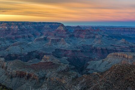 Before Night Falls on the Canyon, Grand Canyon National Park, Arizona Stockfoto - 131626640