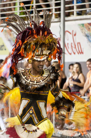 Vitória, Brazil - February 2011 - People Celebrating the Carnaval.