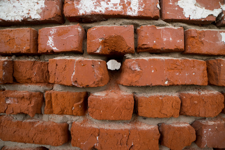 bulwark: Vintage red brick wall background, brick wall for background texture