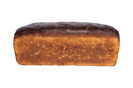 Fresh rye bread bread on white background Imagens