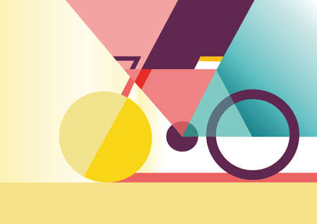 colorfull: high quaility colorfull bike vector draw for your work