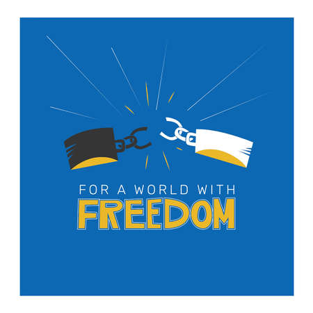 for a world with freedom Illustration