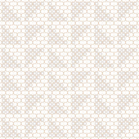 Seamless geometric pattern of circles and dots.Endless texture from round shapes.Abstract background.Surface for textiles, paper, wallpaper, industrial items.Vector illustration.