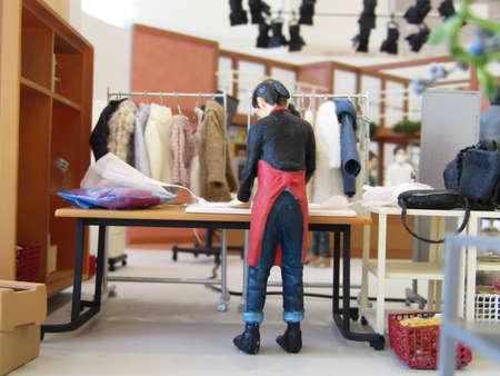 Miniature model of TV Studio (cookng program) Imagens