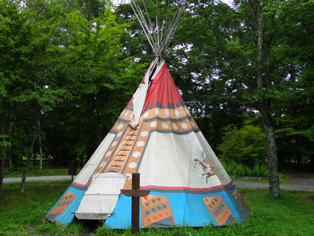 Indian camping tent