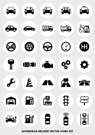 Autobezogenes Icon-Set