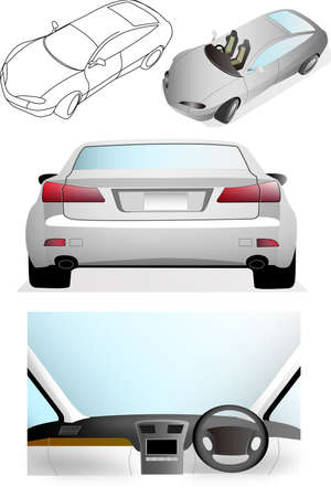 자동차 일러스트 컬렉션 일러스트