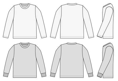 Set of long sleeve shirts icon.