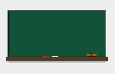 Blackboard illustration.