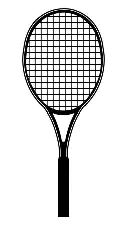 tennis racket illustration Vettoriali