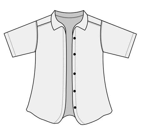 Short sleeve button shirt illustration