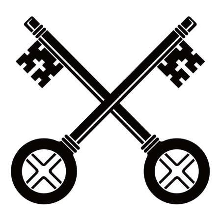 Crossed keys illustration Illusztráció