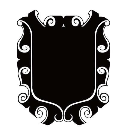 shield emblem ilustration Illustration