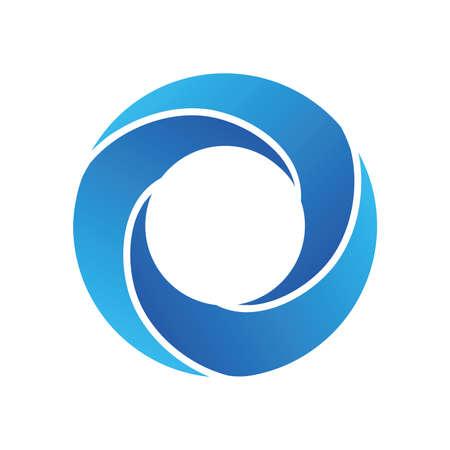 Wavewhirlpool icon symbol design. Illustration