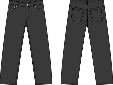 Illustration of simple denim pants Illustration