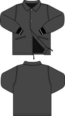 Illustration of men's jacket (windbreaker)