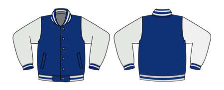 Illustration of varsity jacket 向量圖像