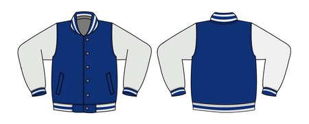 Illustration of varsity jacket Vettoriali