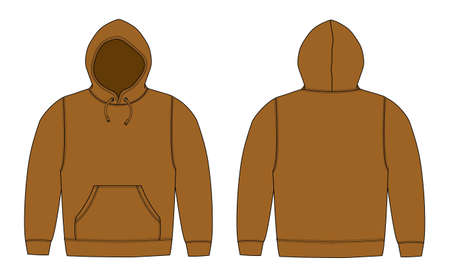 Illustration of hoodie on white background. Stock Illustratie