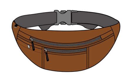 Illustration of belt bag in brown