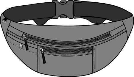 Illustration of fanny pack (waist pouch) Vettoriali