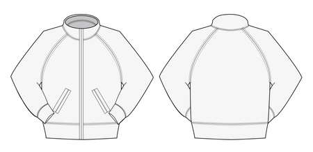 Illustration of jumper and training wear (white)