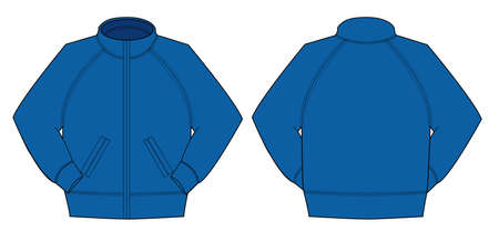 Illustration of jumper and training wear in front and back view illustration.  イラスト・ベクター素材