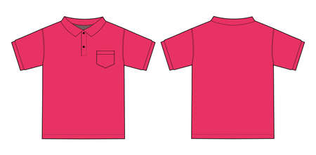 Illustration of polo shirt (pink)  イラスト・ベクター素材