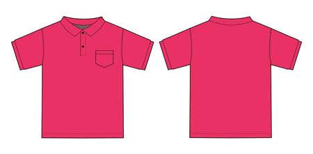Illustration of polo shirt (pink) 일러스트
