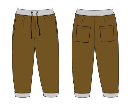 Illustration of Sweat Pants (brown)