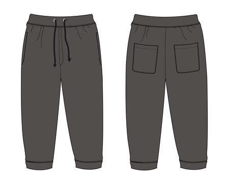 Illustration of Sweat Pants (chacoal)