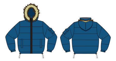 Winter coat icon.
