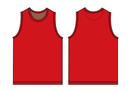 Red tank top, sleeveless shirt illustration.