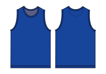 Tank top, sleeveless shirt illustration  blue