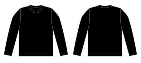 Longsleeve t-shirt illustration (black) Иллюстрация